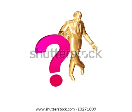 the businessman question - stock photo