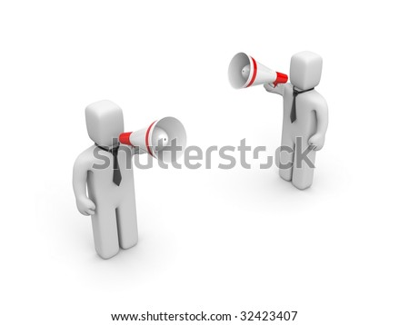 The businesspeople draws to attention - stock photo
