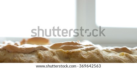 The Cake background and texture. - stock photo