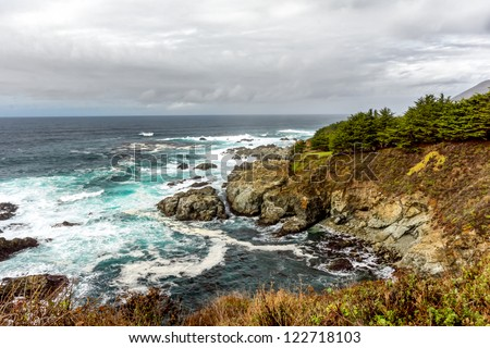 The California Central Coast at Big Sur. - stock photo