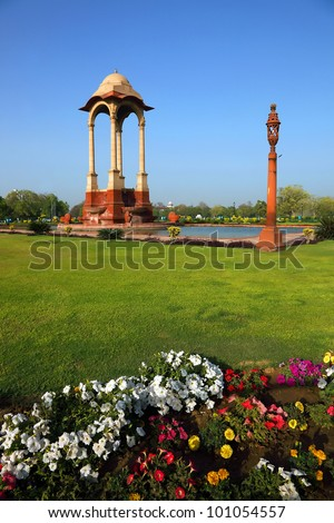 The Canopy near India Gate, New Delhi - stock photo