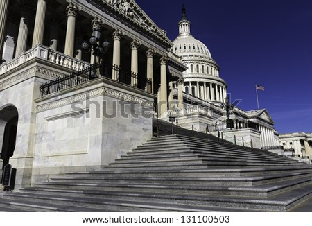 The Capitol Building, Washington, DC, USA. - stock photo