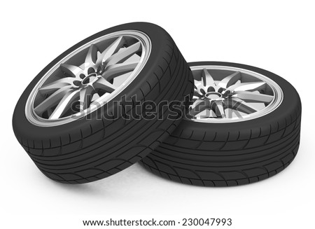 The car tires - stock photo