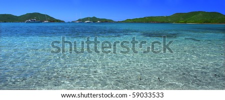 The Caribbean island of Tortola - British Virgin Islands - stock photo