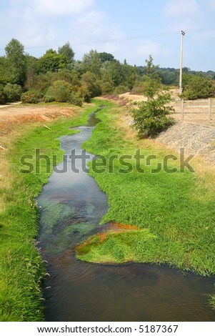 The Carnon river near, Cornwall, UK. - stock photo