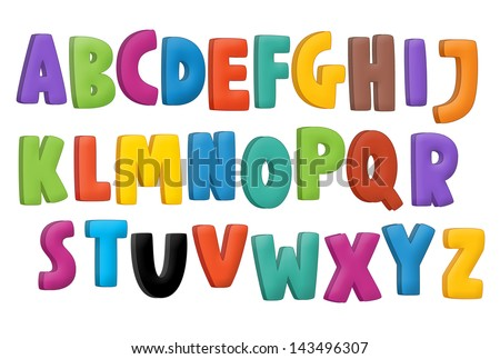 The cartoon alphabet - for the children - stock photo