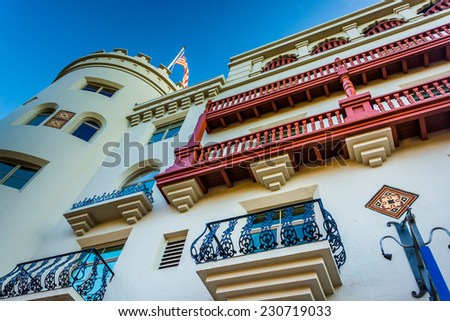 The Casa Monica Hotel in St. Augustine, Florida. - stock photo
