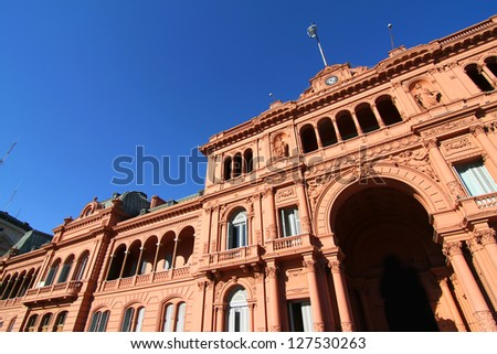"""The """"Casa Rosada"""", the government building in Buenos Aires, the Capital of Argentina. - stock photo"""