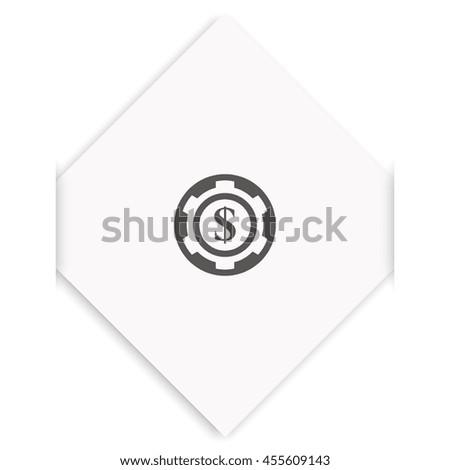The casino chip icon. - stock photo