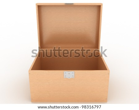 The casket of a tree on a white background ?2 - stock photo