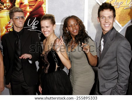 The cast of So You Think You Can Dance attends the 'Step Up' Los Angeles Premiere held at the Arclight Theater in Hollywood, California on August 7, 2006. - stock photo
