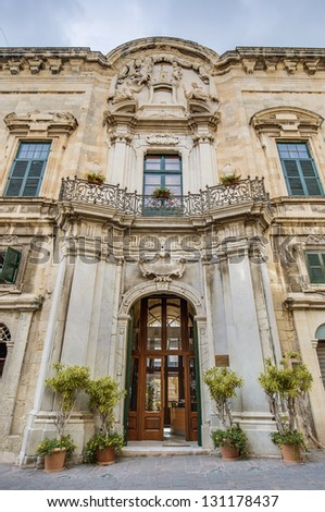 The Castellania in Merchants Street, the former city's law courts and prison constructed by the Knights of Malta in Valletta, Malta - stock photo