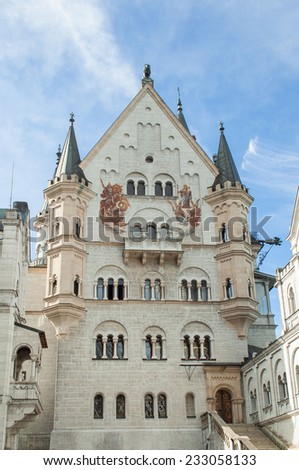 The castle of Neuschwanstein in Bavaria, Germany - stock photo