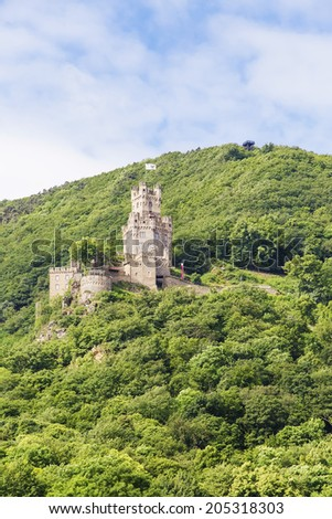 "The castle ""Sooneck"" rhine valley, Germany - stock photo"