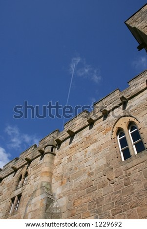 the castle wall - stock photo