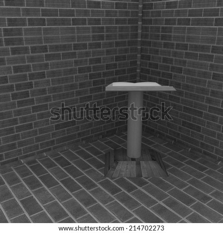 The cathedra in the corner of a brick  - stock photo