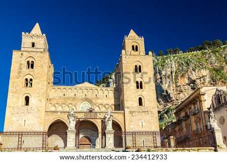 The Cathedral-Basilica of Cefalu, is a Roman Catholic church, Sicily - stock photo
