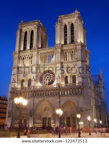 The cathedral Notre Dame de Paris in Paris, France. - stock photo