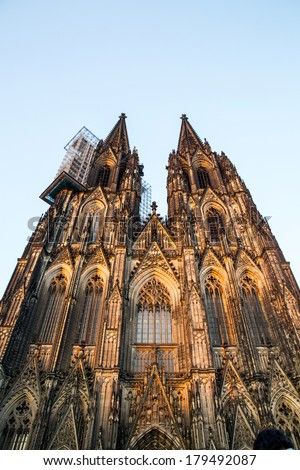 The Cathedral of Cologne in Germany. - stock photo