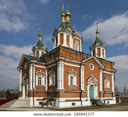 The Cathedral of Feast of the Cross in the Brusensky Monastery, Kolomna Kremlin.  - stock photo