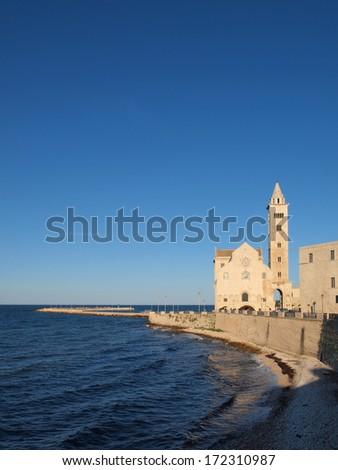 The Cathedral of San Nicola Pellegrino in Trani, Italy. - stock photo