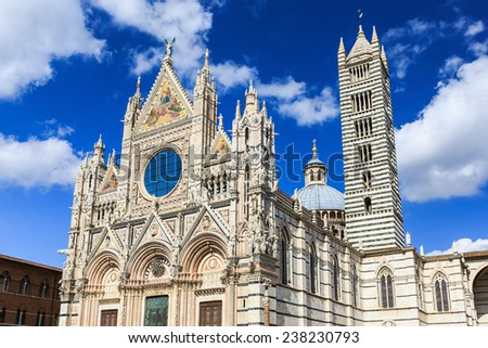 The Cathedral of Siena (Duomo di Siena), Italy - stock photo