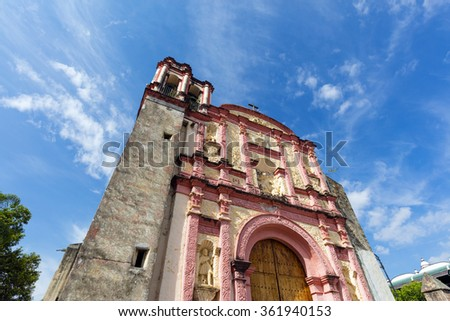 The Cathedral of the Assumption of Mary of Cuernavaca, Mexico - stock photo