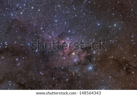 The Cave Nebula in the Constellation Cepheus - stock photo