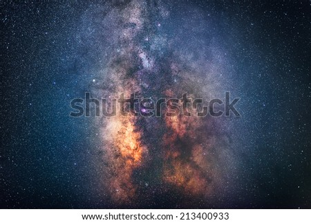The center of the milky way galaxy  - stock photo