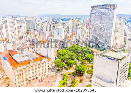 The central part of Sao Paulo, Brazil - stock photo