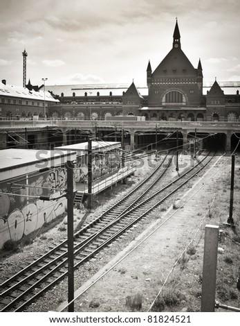 The central trainstation in Copenhagen, Denmark - stock photo