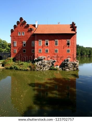 The Cervena Lhota castle - Czech republic - stock photo