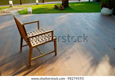 The Chair inside the Garden - stock photo
