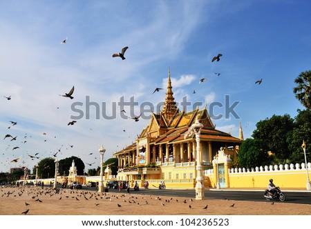 The Chanchhaya Pavilion of Royal Palace, Phnom Penh, Cambodia - stock photo