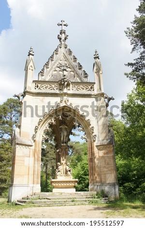 the Chapel of St. Hubert, Lednice,Valtice, Moravia, Czech republic - stock photo