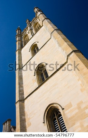 The chapel tower of Magdalen College, Oxford - stock photo
