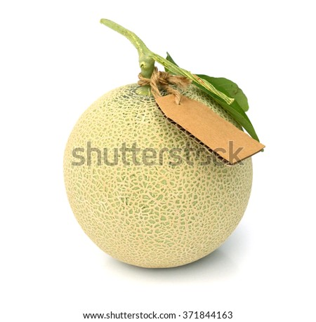The Charentais is a petite-sized melon with a smooth, hard, pistachio-grey colored skin and distinct green ribbing. Its flesh is deep orange, dense, smooth and sweet - stock photo