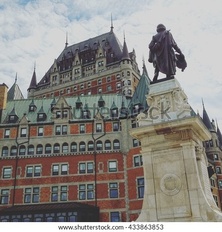The Chateau Frontenac Hotel located in Quebec City - stock photo