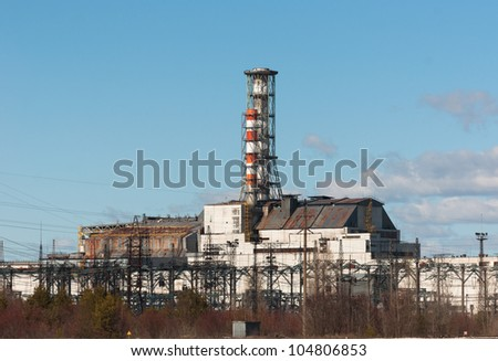 The Chernobyl Nuclear Power Plant, 2012 March 14 - stock photo