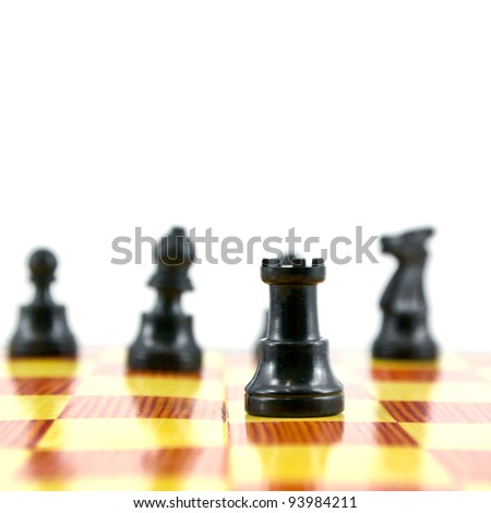 "the chess ""rook"", the good attacker of army isolated on white background, - stock photo"