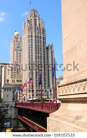 The Chicago Tribune building - stock photo