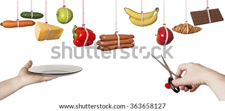 The choice of products.Healthy eating. - stock photo