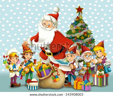 The christmas - Santa Claus - illustration - stock photo