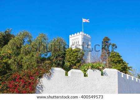 The Church of Saint Andrew is an Anglican church in Tangier, Morocco. Tangier is a major city in northern Morocco. - stock photo