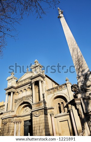 The church of the Madeleine in Aix-en-Provence, France. - stock photo
