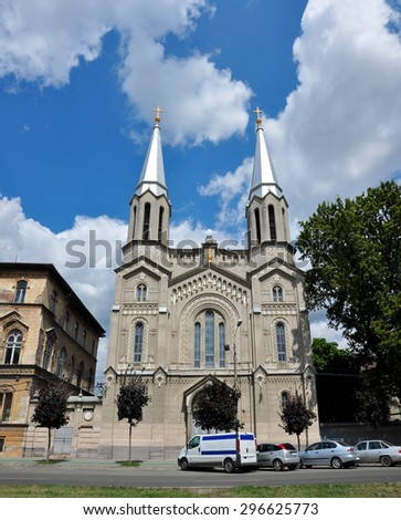 The Church of the nuns belonging to the Notre-Dame order Timisoara Romania - stock photo