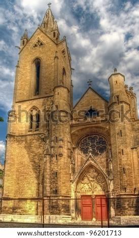 "The church ""Saint Jean de Malte"" in Aix-en-Provence - stock photo"
