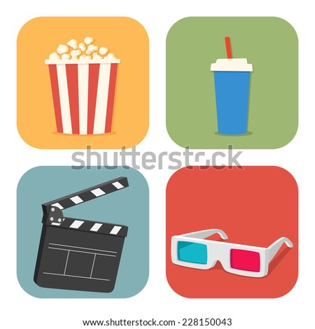 The cinematic illustration - stock photo