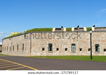 The Citadelle of Quebec City was a military installation and residence from 17th century. Quebec City, Quebec, Canada. - stock photo