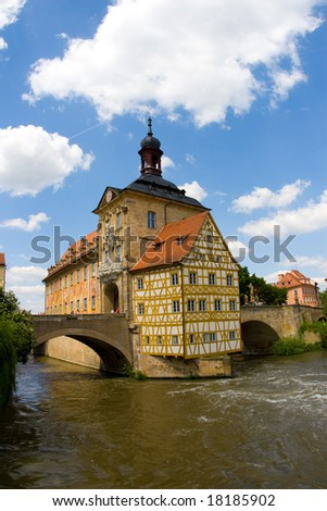 The City Hall of Bamberg - stock photo